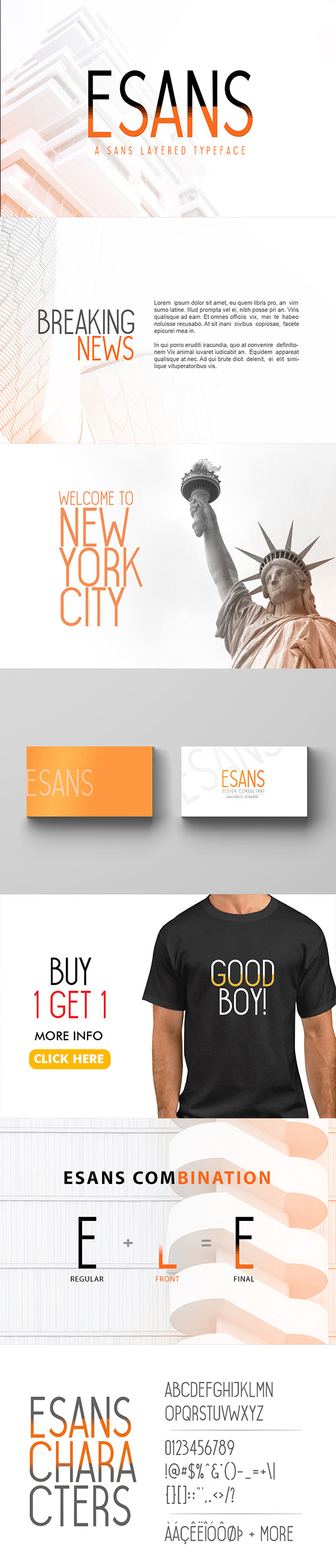 Esans Layered Font - Sans-Serif Fonts