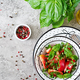 Tomato salad with basil and pine nuts in bowl  - PhotoDune Item for Sale