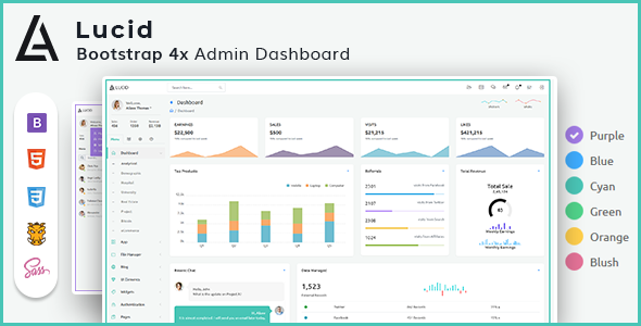 Image of Lucid - Powerful Bootstrap 4 Admin Webapp Template