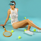 vintage female tennis player  - PhotoDune Item for Sale
