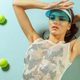fashion model with tennis balls - PhotoDune Item for Sale