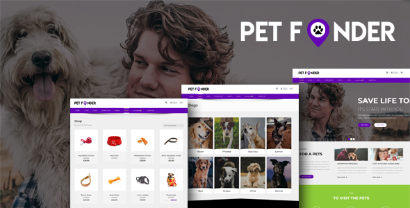 Petfinder - Pet Adoption and Rescue WordPress Theme - Business Corporate