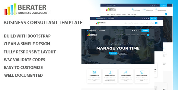 Berater - Consulting & Business HTML Template - Corporate Site Templates