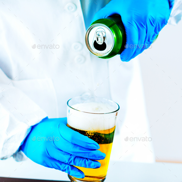 Quality control of beer - Stock Photo - Images