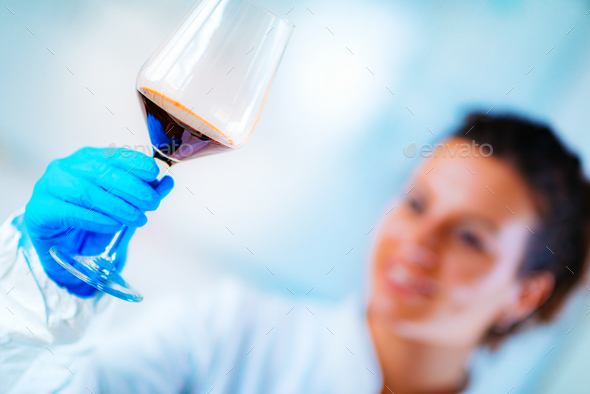 Quality control of wine - Stock Photo - Images