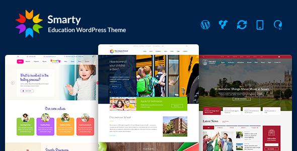 Smarty - Kindergarten, School, High school, College, University, Alumni WordPress theme - Education WordPress
