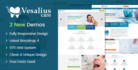 Vesalius Care HTML Template - Health & Beauty Retail