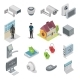 Home Security Vector Isometric Icon Set - GraphicRiver Item for Sale