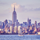 Manhattan seen from New Jersey at sunset, USA - PhotoDune Item for Sale