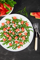 Fresh summer watermelon salad