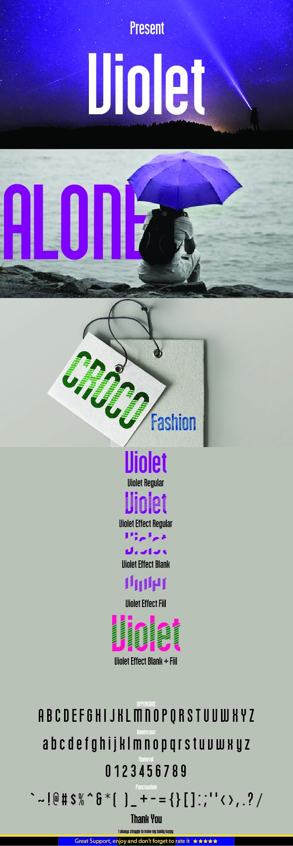 Violet - Sans-Serif Fonts