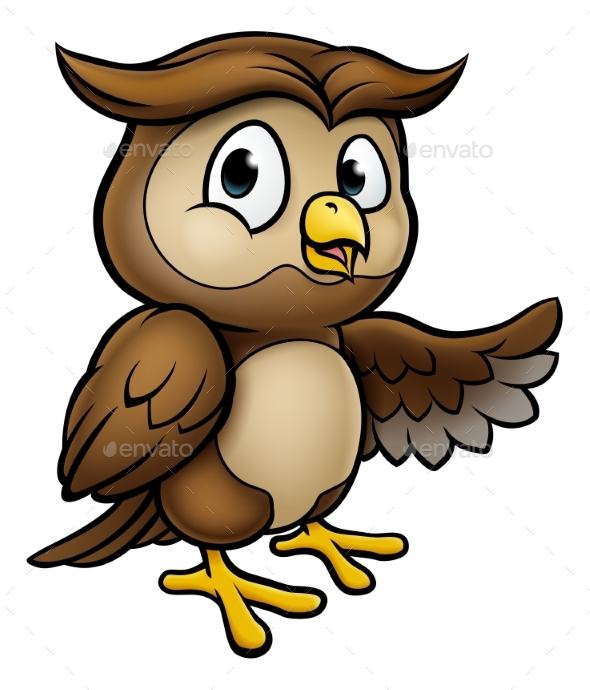 Cartoon Owl Character - Animals Characters