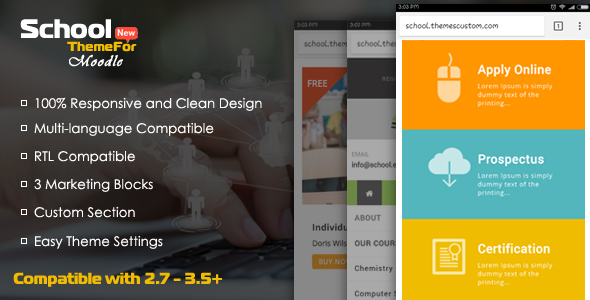 School - Exclusive Moodle Theme - Moodle CMS Themes