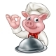 Pig Cartoon Chef Character - GraphicRiver Item for Sale