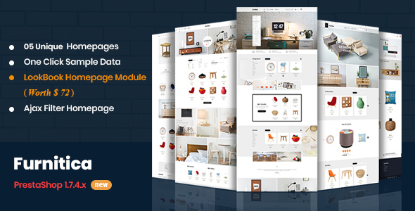 Image of Furnitica - Minimalist Design Responsive PrestaShop 1.7 Theme For Furniture, Decor, Interior