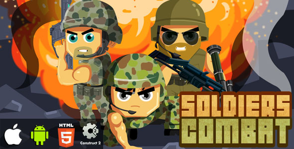 Soldiers Combat - HTML5 Game (CAPX)            Nulled