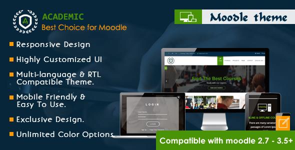 Academic - Responsive Moodle Theme - Moodle CMS Themes