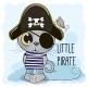 Cartoon Kitten in a Pirate Hat