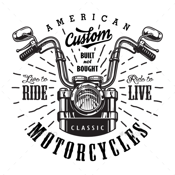 vintage motorcycle logo template by imogi graphicriver