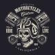 Vintage Monochrome Motorcycle Logo Concept