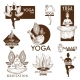 Yoga Meditation Studio Vector Icons