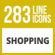 284 Shopping Line Inverted Icons - GraphicRiver Item for Sale