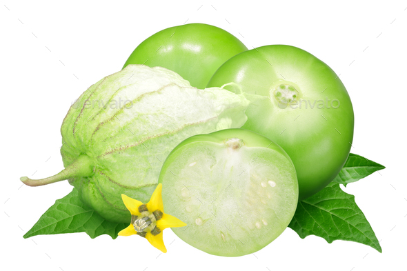 Tomatillo husk tomato, physalis - Stock Photo - Images