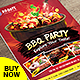 Food Menu - Restaurant BBQ Menu Flyer