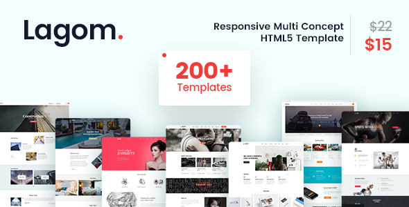 Image of Lagom - A Responsive Multi Concept HTML5 Template