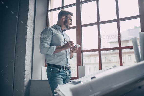 Mature man in the workplace - Stock Photo - Images