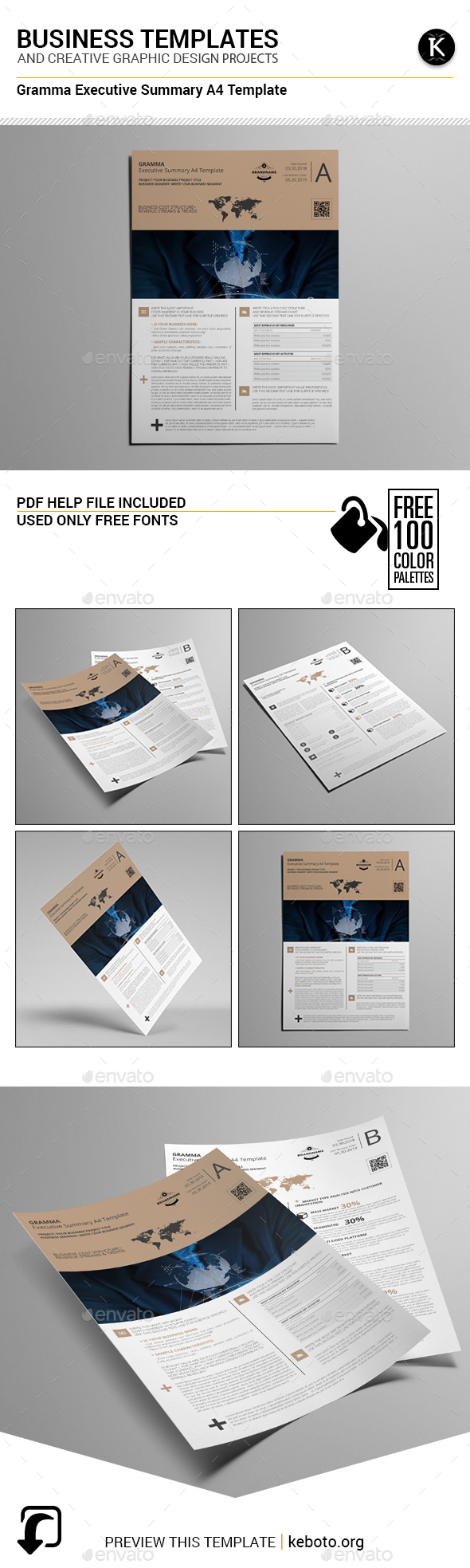 Gramma Executive Summary A4 Template - Miscellaneous Print Templates