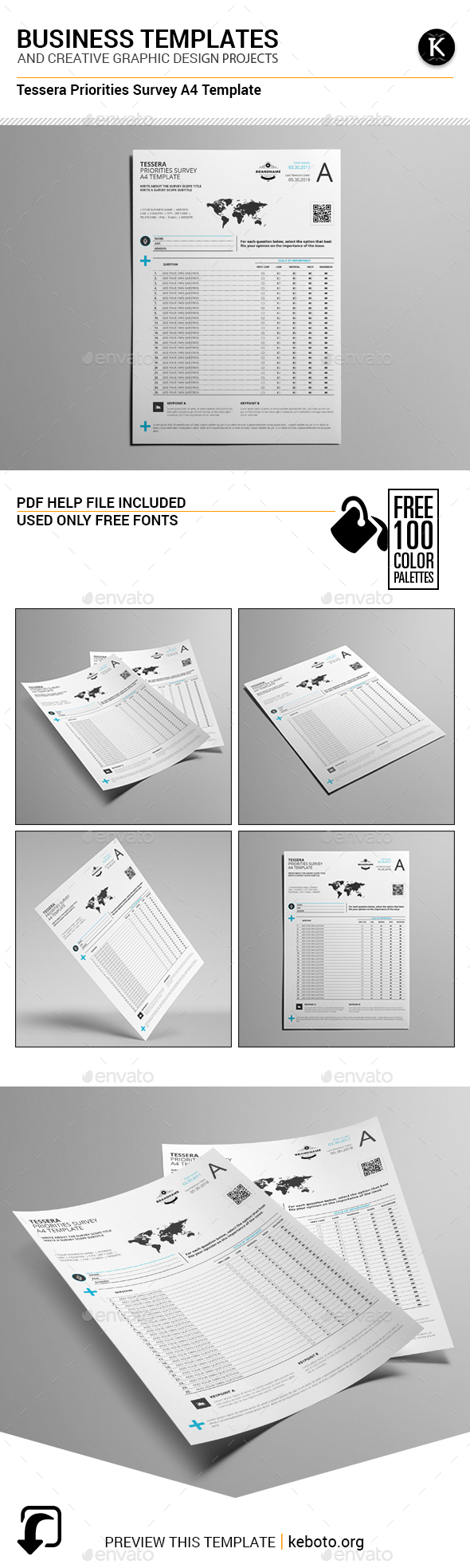 Tessera Priorities Survey A4 Template - Miscellaneous Print Templates