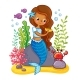The Mermaid Sits on a Rock and Combs - GraphicRiver Item for Sale