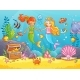 Mermaids Among the Fish Holding Hands - GraphicRiver Item for Sale