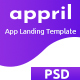 Appril - app landing PSD Template - ThemeForest Item for Sale