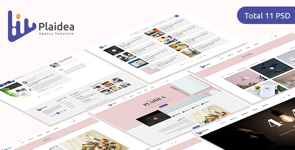 Plaidea - Agency/Corporate PSD Template - PSD Templates