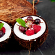Fruit salad in coconut shell bowl - PhotoDune Item for Sale