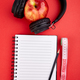 Black Headphones and apple - PhotoDune Item for Sale