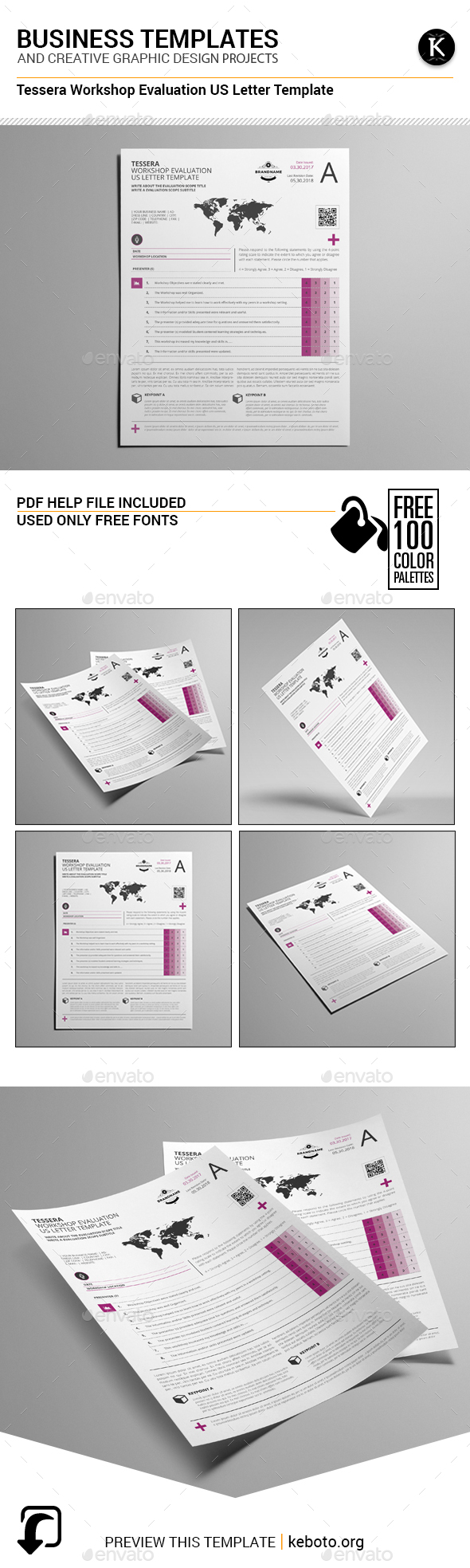 Tessera Workshop Evaluation US Letter Template - Miscellaneous Print Templates