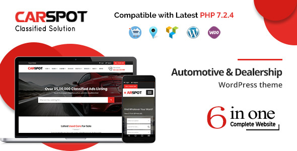 Image of CarSpot – Automotive Car Dealer Wordpress Classified Theme
