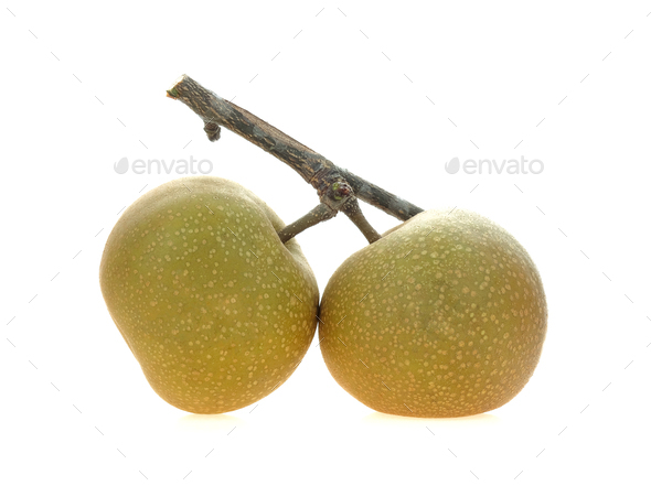 Chinese pear on white background. - Stock Photo - Images