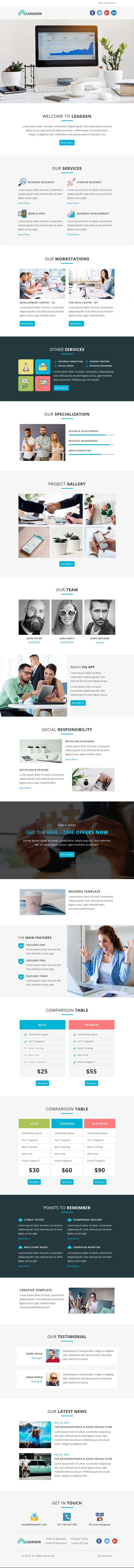 LeadGen - Multipurpose Responsive Email Template With Stampready ...