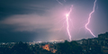 Two lightning in the city at night - PhotoDune Item for Sale