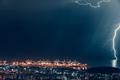 Lightning over night city - PhotoDune Item for Sale