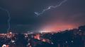 Beautiful lightning over city - PhotoDune Item for Sale