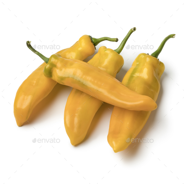 Fresh yellow pointed peppers - Stock Photo - Images