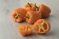 Fresh raw orange sweet bell peppers - PhotoDune Item for Sale