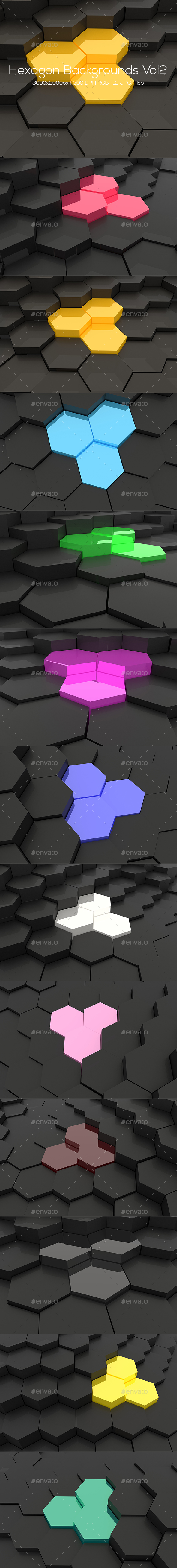 Hexagonal Backgrounds Vol2 - Abstract Backgrounds