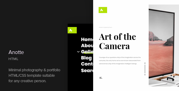 Image of Anotte - Horizontal Photography HTML Template