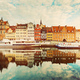 Building facades of Old Town in Gdansk and Motlawa river - PhotoDune Item for Sale